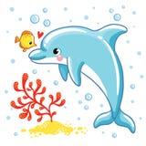 Delfín lindo de la historieta Imagen de archivo