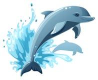 Delfínes ilustración del vector