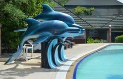 Delfínes artificiales Foto de archivo libre de regalías