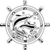 Delfínes contra el volante Imagenes de archivo