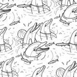 Delfínes de alimentación del gráfico libre illustration