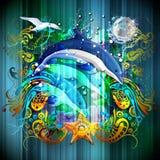 Delfínes en el océano Imagenes de archivo