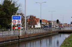 Delfgauw, the Netherlands. April 2018. Delfgauw village in the Netherlands stock image