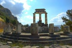 Delfi - Heiligdom van Athene Stock Fotografie