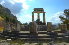 Delfi - santuario di Atene Fotografia Stock