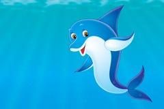 delfin royaltyfri illustrationer