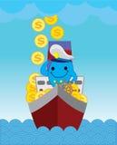 Delfin för kapten Blue vektor illustrationer