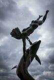Delfin fontanna Obrazy Stock