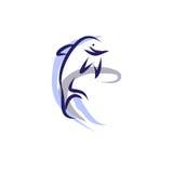 Delfin hoppar ut ur vattnet royaltyfri illustrationer