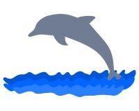 Delfin sylwetka - ilustracja Obrazy Royalty Free