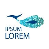 Delfin texturized loga szablon Wielorybi wektor Fotografia Royalty Free