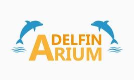 Delfinariumlogo Royaltyfri Foto