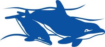 delfinbad stock illustrationer