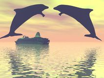 delfines Imágenes de archivo libres de regalías