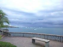Delfinesstrand in Puereto Jimenez Costa Rica in een hete middag royalty-vrije stock foto's