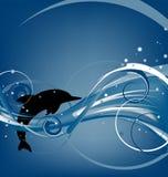 delfinhopp stock illustrationer
