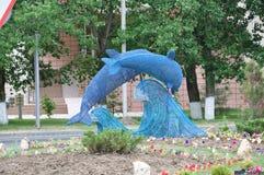 Delfini decorativi Fotografie Stock Libere da Diritti