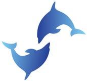 Delfinlogo Royaltyfri Fotografi
