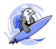 Delfino del surfista royalty illustrazione gratis