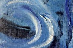 Delfino dell'azzurro di Oilpainting Immagini Stock Libere da Diritti