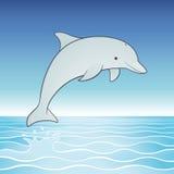 Delfino di salto sveglio Fotografie Stock Libere da Diritti