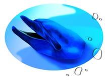Delfino e goccia di acqua Fotografia Stock