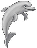 Delfino grigio royalty illustrazione gratis