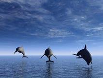 Delfino nella parte anteriore