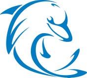 delfinstilswish stock illustrationer