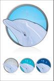 delfinsymbol stock illustrationer