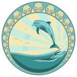 Delfinu doskakiwanie Obraz Royalty Free