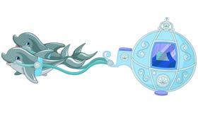 Delfinu fracht ilustracja wektor