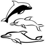 Delfinu set Zdjęcia Royalty Free