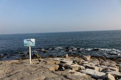 Delfinu widoku punkt w Salalah fotografia royalty free