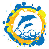 delfiny denni Zdjęcie Royalty Free