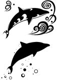 delfiny dwa Zdjęcie Stock