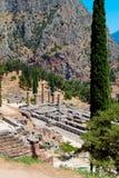Delfoi archaeological site in Greece Stock Photos