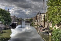 Delfshaven, Hollande Image stock