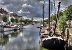 Delfshaven, Hollande Images stock