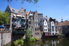 Delfshaven område, Rotterdam, Nederländerna royaltyfri bild