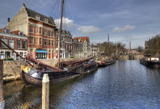 Delfshaven, Rotterdam. Delfshaven in Rotterdam, Holland, with historical boats Stock Image