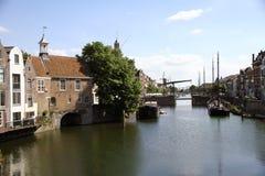 Delfshaven, Rotterdam. Historic canal in Delfshaven Rotterdam, Holland Stock Photo