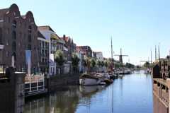 Delfshaven seen from Piet Heynsbridge, Holland Stock Photos