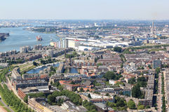 Delfshaven visto de Euromast, Rotterdam, Holanda imagem de stock