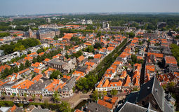 Delft from above Stock Images
