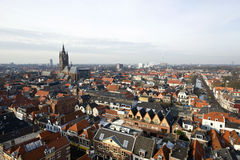 Delft from Above Royalty Free Stock Photos