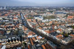 Delft from Above Royalty Free Stock Photography