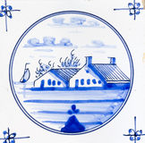 Delft-Blau Stockfoto