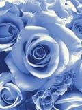 Delft-blauer Hochzeitsblumenstrauß Stockfotos