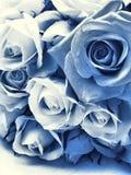 Delft-blauer Hochzeitsblumenstrauß Stockbild